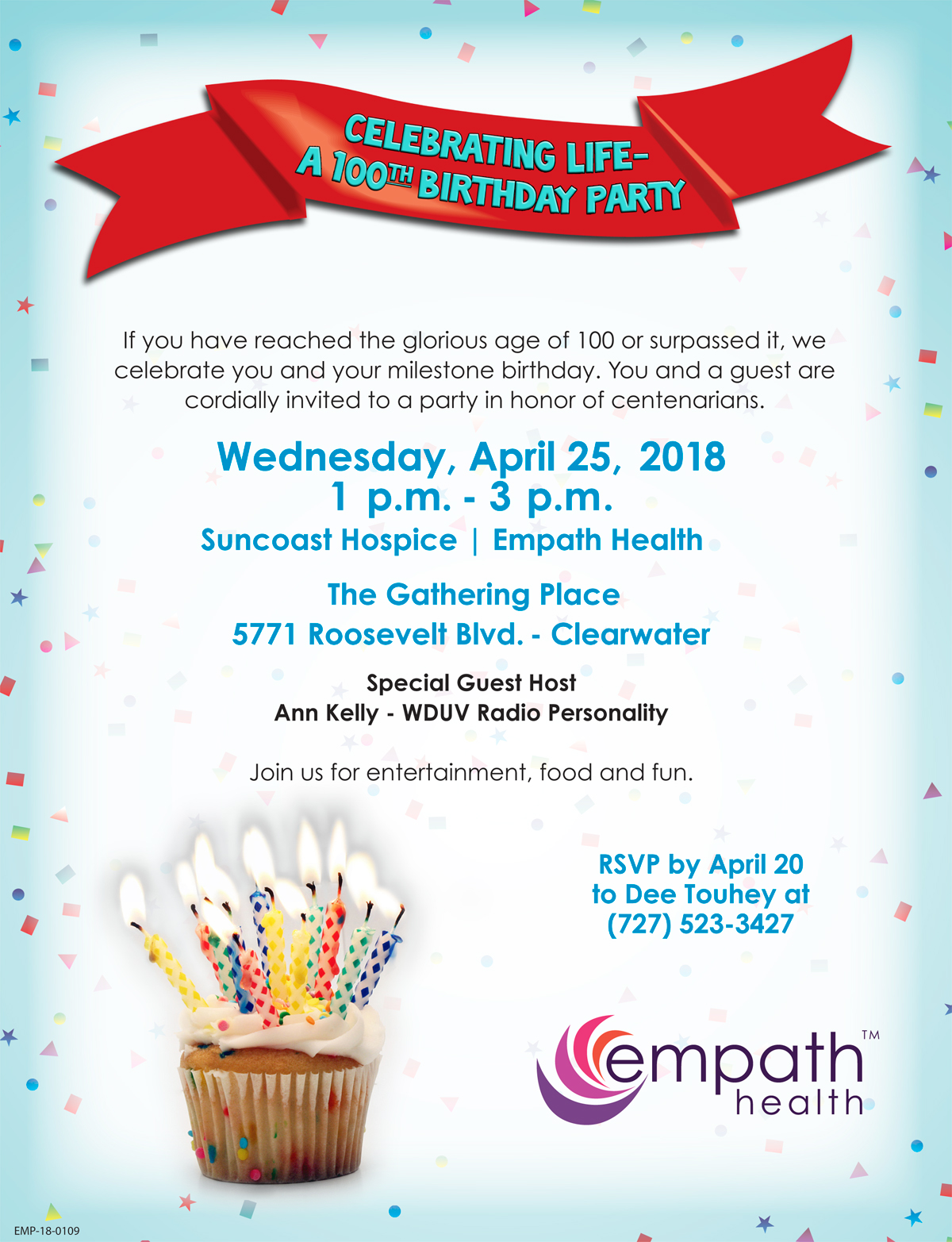Celebrating Life: A 100th Birthday Party - Suncoast Hospice - Life ...