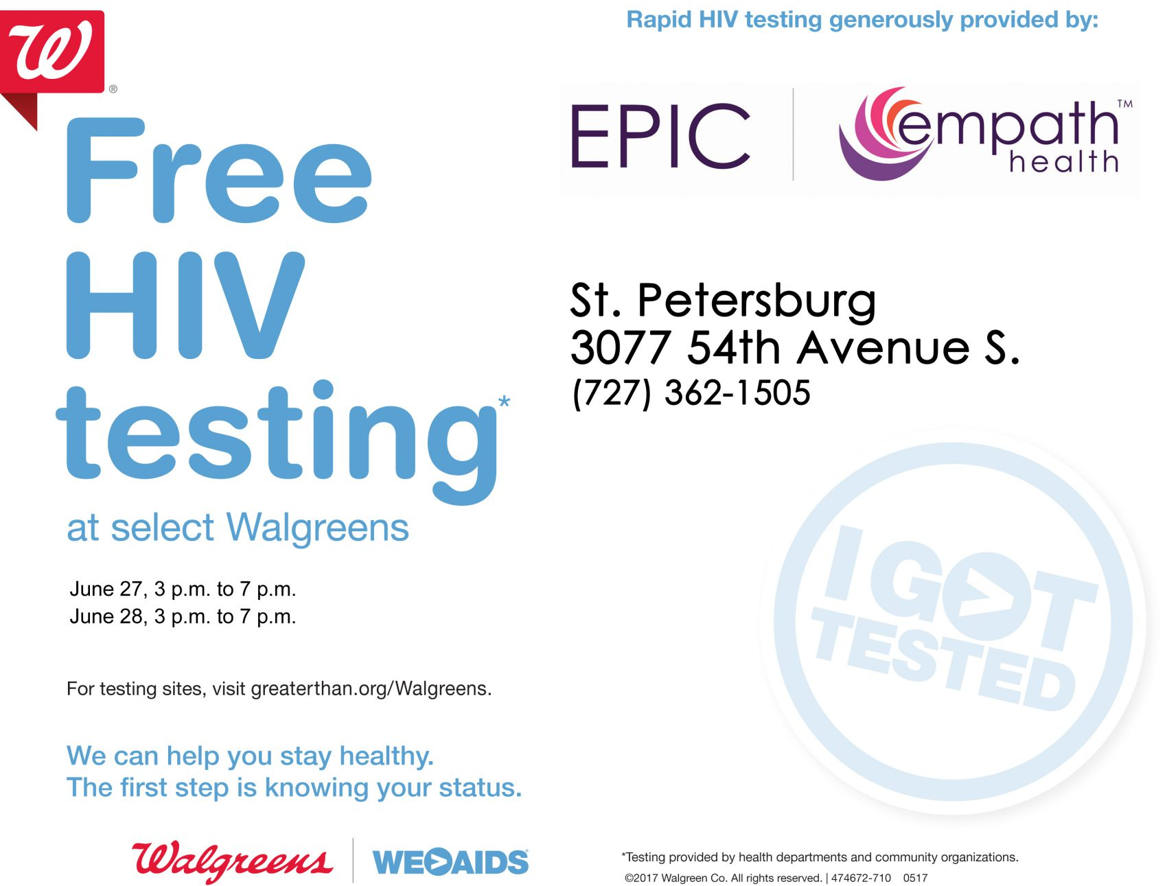 National HIV Testing Day @ Walgreens | Saint Petersburg | Florida | United States