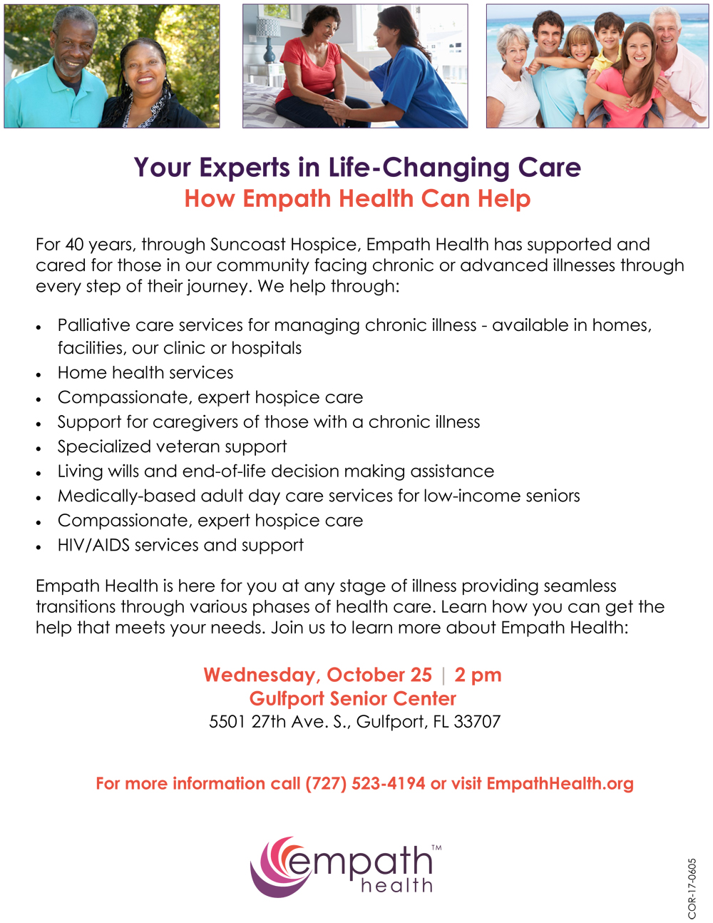 Empath Health Overview: Experts in Life-Changing Care @ Gulfport Senior Center