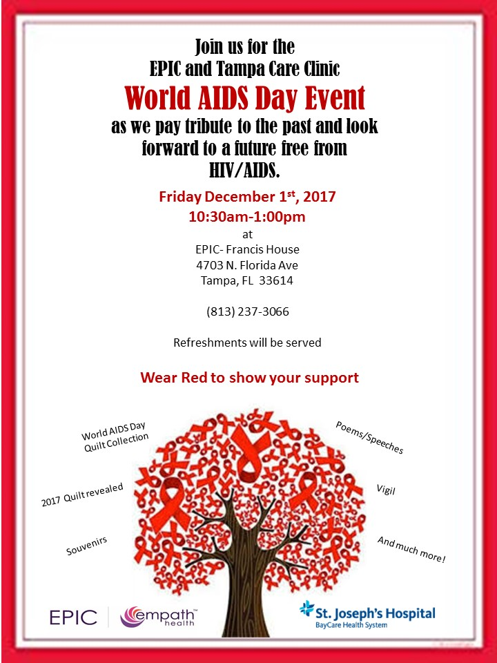 World AIDS Day Event – Francis House Campus @ Francis House