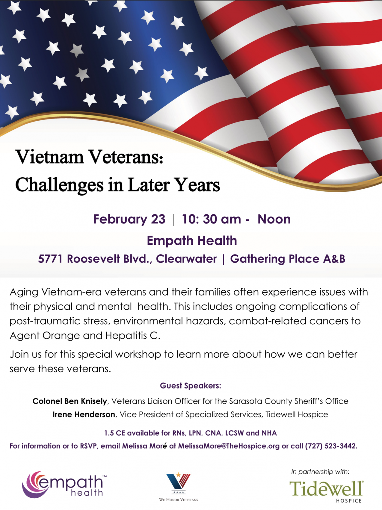 Vietnam Veterans: Challenges in Later Years @ Suncoast Hospice | Empath Health Service Center