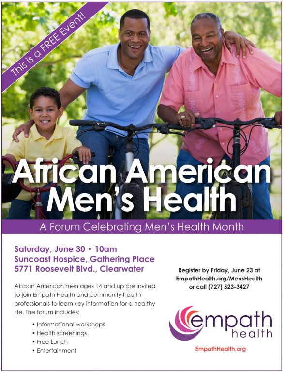 African American Men's Health Forum @ Suncoast Hospice | Empath Health Service Center, Gathering Place | Clearwater | Florida | United States