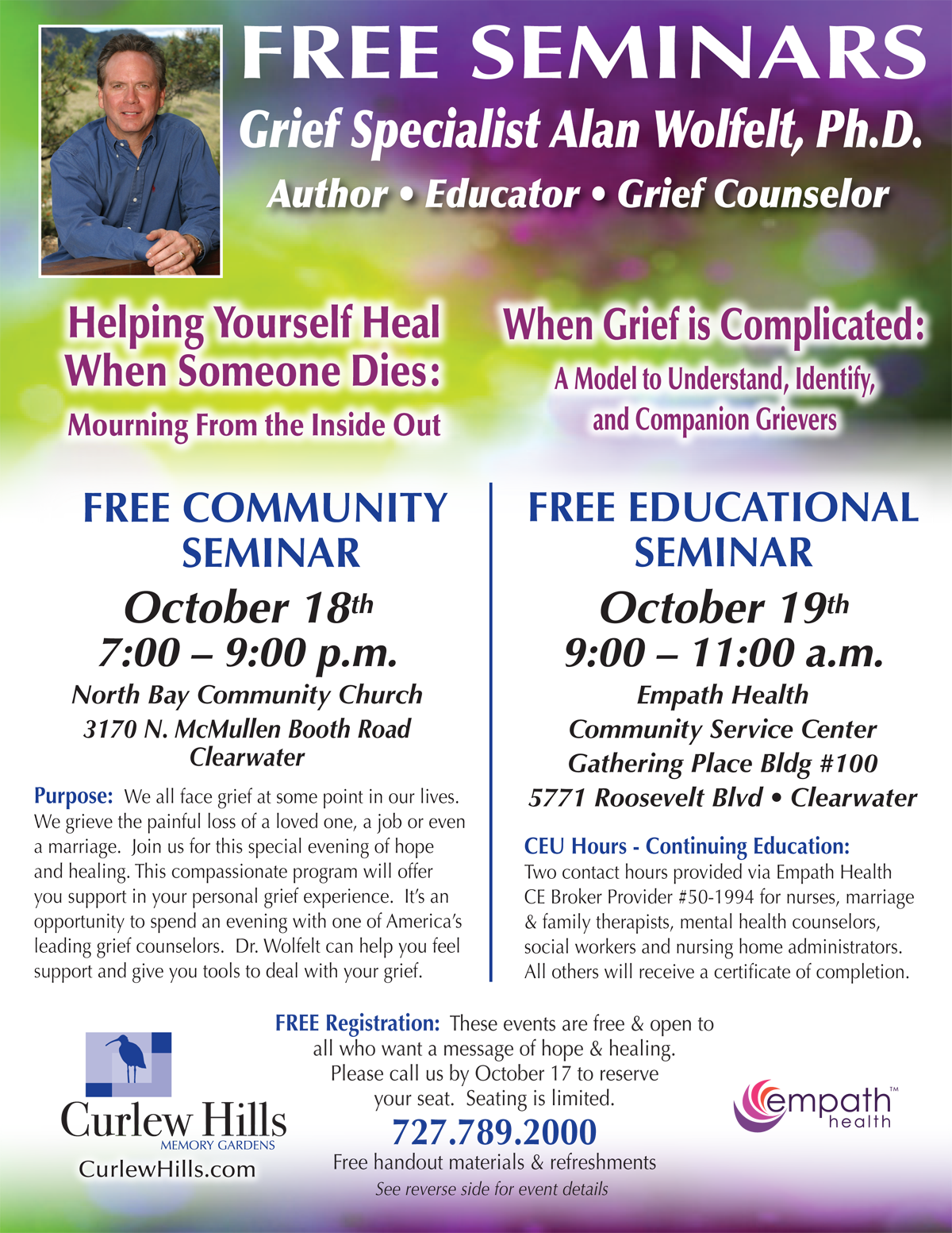 When Grief is Complicated: A Model to Understand, Identify, and Companion Grievers @ Suncoast Hospice | Empath Health Service Center, Gathering Place | Clearwater | Florida | United States