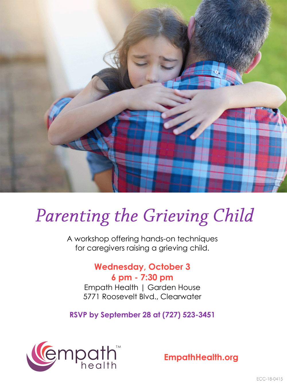 Parenting the Grieving Child @ Suncoast Hospice | Empath Health Service Center, Garden House | Clearwater | Florida | United States
