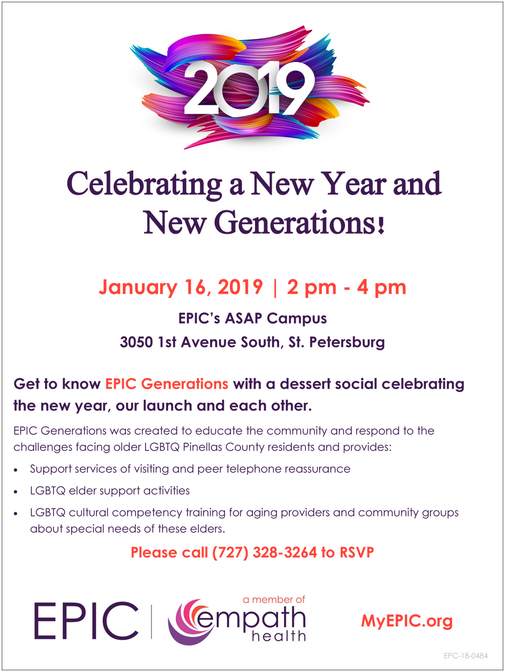 Celebrating a New Year and New Generations! @ EPIC (Empath Partners In Care) ASAP Campus | Saint Petersburg | Florida | United States