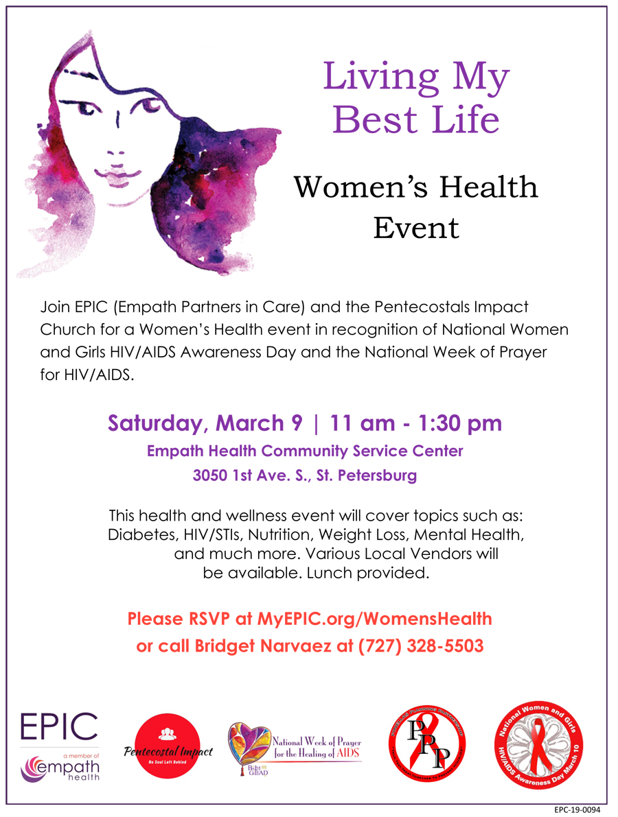 Women's Health Event In Recognition of National Women and Girls HIV Awareness Day @ EPIC (Empath Partners In Care) ASAP Campus | Saint Petersburg | Florida | United States