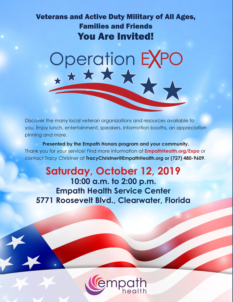 Operation EXPO @ Suncoast Hospice | Empath Health Service Center | Clearwater | Florida | United States