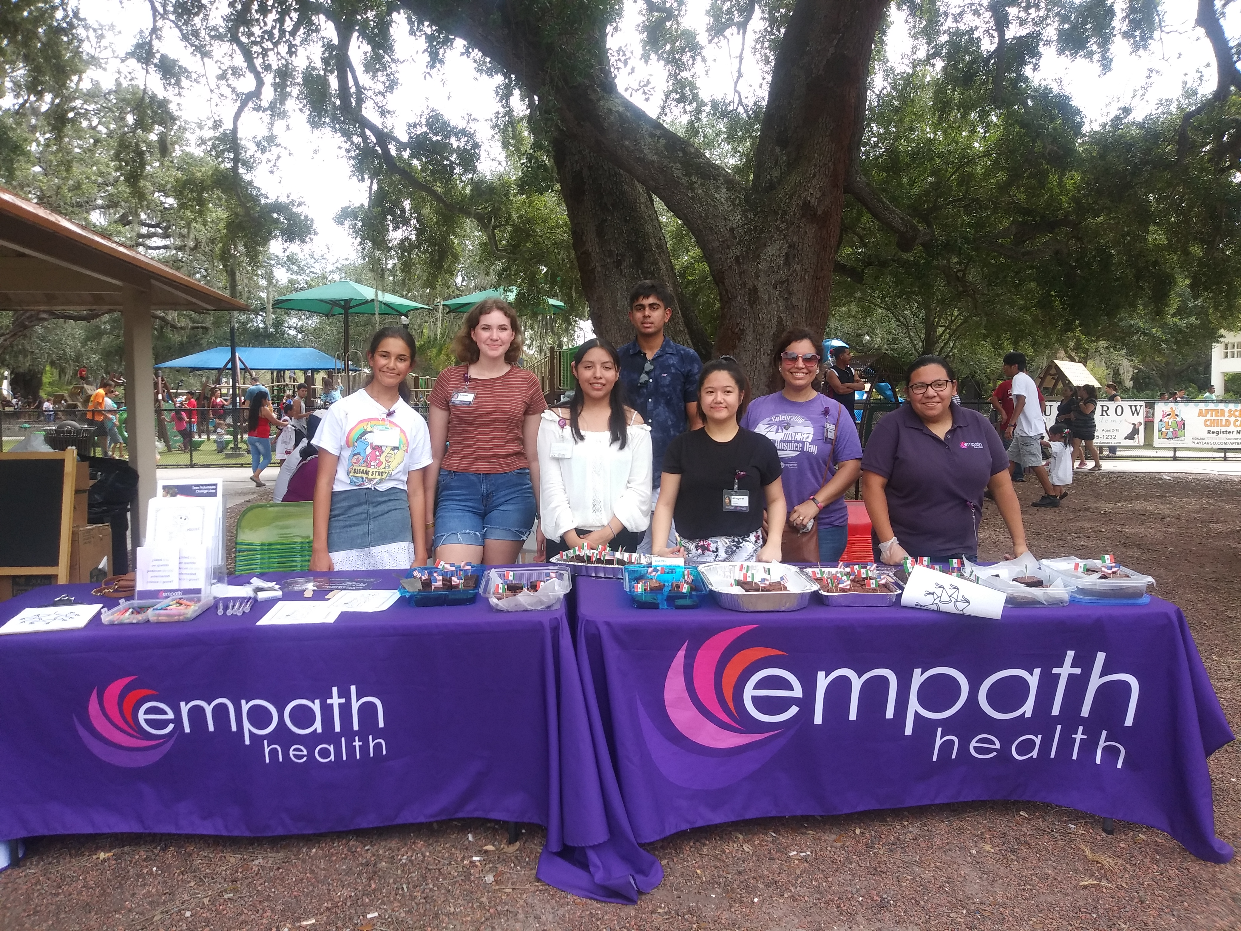 Hispanic Heritage Month Community Outreach Event and Teen Volunteers