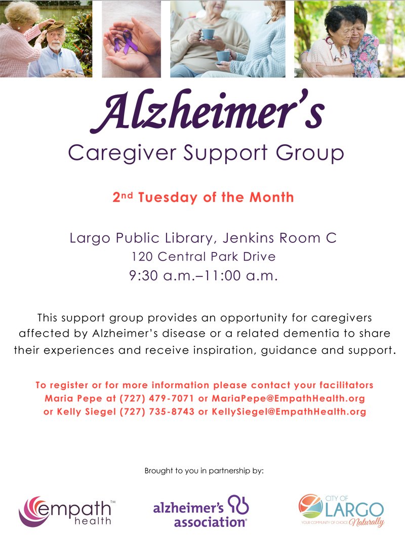 Alzheimer's Caregiver Support Group - Largo @ Largo Public Library, Jenkins Room C | Largo | Florida | United States