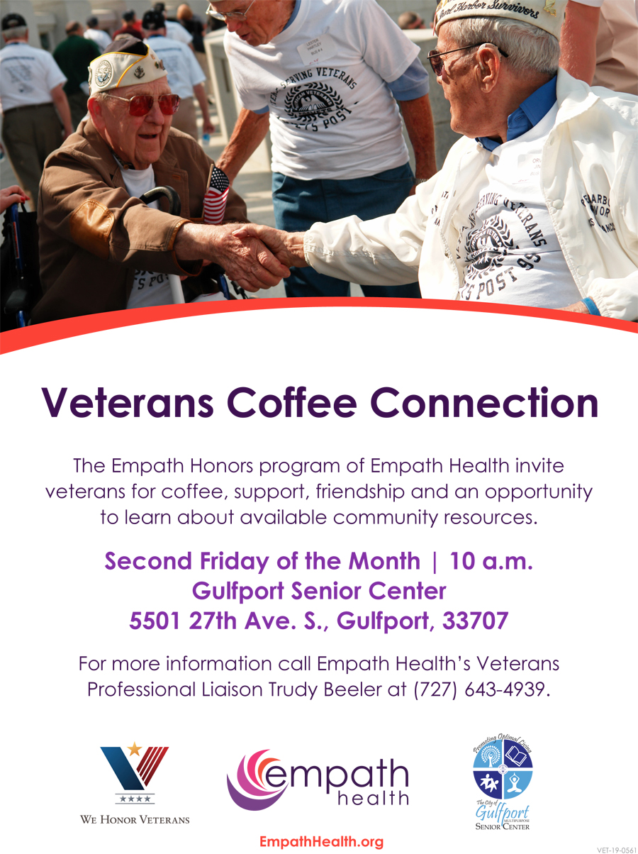 Veterans Coffee Connection @ Gulfport Senior Center | Gulfport | Florida | United States